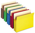 Expandable Colored File Pocket Straight Tab - 25 File Pockets