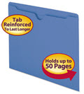 Colored File Jackets Reinforced 2-Ply Tab Letter 11pt -  Pack of 100