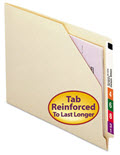 Cut-Away Corner End Tab Jackets with Reinforced Tabs -  100 Folders