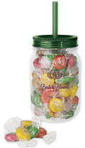 Mason Jar with Citrus Slice Candy -  48 Jars
