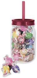 Mason Jar with Salt Water Taffy - 48 Jars