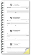 4-to-Page 2 Part Receipt Books - 1,000 receipts
