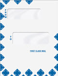 Offset Window First Class Mail Envelope - Expandable - 100 Envelopes