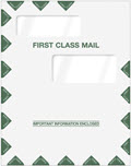 Double Window First Class Envelope 9 x 11 1/2  -  50 Envelopes