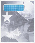 Patriotic Envelope Single Window - 100 Envelopes