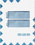 Double Window First Class Mail Envelope, 9 1/2