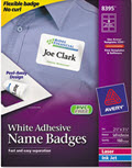Flexible Self-Adhesive Laser/inkjet Name Badge Labels - 160 Labels