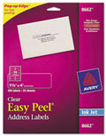 Clear Easy Peel Mailing Labels Inkjet 1 1/3 X 4 - 350 Labels
