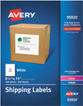 White Shipping Labels Laser/inkjet 8 1/2 X 11  -  250 Labels