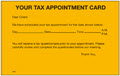 Tax Appointment Reminder Card - 250 Cards