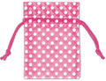 Polka Dot Organdy Bags, White Dots on Hot Pink, 3