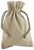 Tan Linen Cloth Bags 4 x 6 - 12 Bags