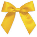 Gold Pre-Tied Satin Bows 7/8