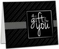Black Stripe Gift Card Carriers, 6.5 x 4 Flat, 250 Carriers/Holders