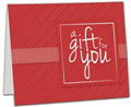 Red Stripe Gift Card Carriers, 6.5 x 4 Flat, 250 Carriers/Holders