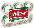 Heavy-Duty Carton Packaging Tape Clear 55 Yd Rolls  -  6 Rolls