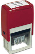 Self-Inking Plastic Dater Stamp - 1 Stamp
