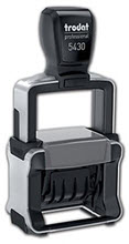 Self-Inking Metal Dater Stamp - 1 Stamp