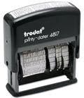 12-Message Stamp Dater Self-Inking - 1 Stamp