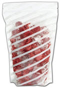White Stripes Food-Safe Zipper Pouches 6 x 9 with 2 1/2 Gusset  - 50 Bags