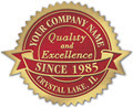 Quality and Excellence Anniversary Seals, 1 7/8 x 1 1/2 - 500 Count