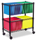 Alera Two-Tier Rolling File Cart - 1 Cart