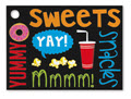 Snack Attack Tags, 3 3/4 x 2 3/4, 1 Set of 6