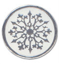Round Snowflake Envelope Seal - 100 Count