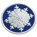 Round Snowflake Christmas Envelope Seal - 100 Count