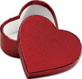 Heart Shaped Candy Boxes 3 5/16 x 2 3/4 x 1 3/8