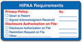 HIPAA Requirements Label - 500 Labels