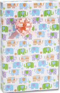 Baby Elephants Gift Wrap 24 inch x 417 feet - 1 Roll