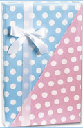 Baby Dots Reversible Gift Wrap 24 inch x 100 feet - 1 Roll