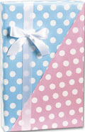 Baby Dots Reversible Gift Wrap 24