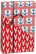 Ship Ahoy Reversible Gift Wrap 24