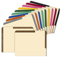 Color Tab File Folder, 20 point, Double Fastener, 40 Folders