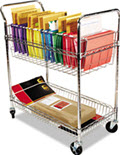 Carry-All Mail Cart Two-Shelf - 1 Chrome Cart