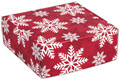 Red and White Snowflakes Decorative Shipping 8 x 8 x 3