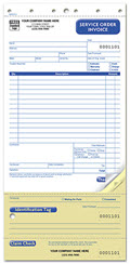 Small Format Service Orders with Claim Check & ID Tag - 250 Forms