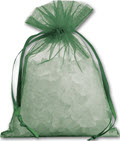 Solid Color Organdy Fabric Bags - 12 Bags
