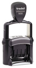 Professional Stamp Dater Self-Inking 1 5/8 x 3/8 Black - 1 Stamp