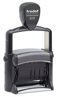 Professional 12-Message Stamp Dater Self-Inking 2 14 X 38 Black  -  1 Stamp