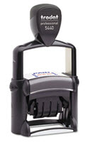 Professional 5-In-1 Date Stamp Self-Inking Blue/Red - 1 Stamper