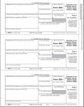 IRS Approved Exercise of Stocks Corporation Copy C Tax Form - 100 Recipients