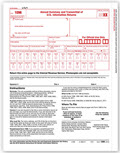 IRS Approved 1096 Laser Transmittal/Summary Tax Form - 5 Recipients