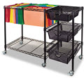 Mobile File Cart Wdrawers Black  -  1 Cart