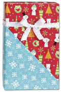 Snow Buddies Reversible Gift Wrap 24