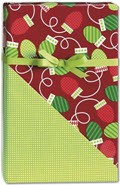 Christmas Bulbs Reversible Gift Wrap 24