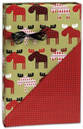 Material Moose Reversible Gift Wrap 24