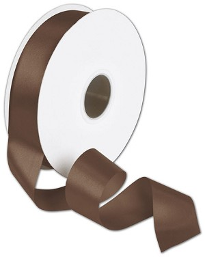 "Double Faced Chocolate Satin Ribbon, 1 1/2"" x 50 Yards"